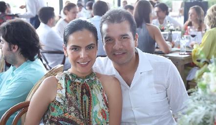 Dora Liz Aguilar y Alejandro Orduña.