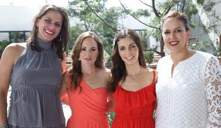 Valeria, Jimena, Marifer y Jimena.