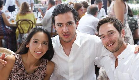 Mariana Carballo, Daniel Correa y Marcos Del Valle.