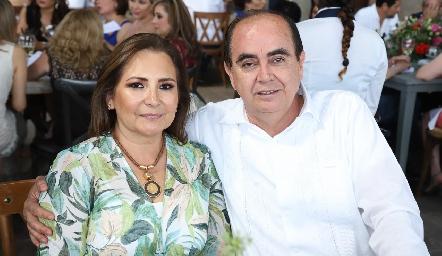 Emilia Sainz y Gustavo Morales.