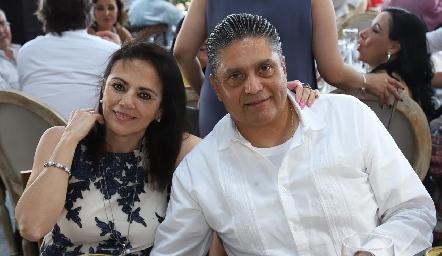 Lorena Guerra y Arturo Sandoval.