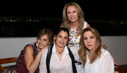 Lupita Pereda, Ana Mary Lorca, Rigeb Salazar y Claudia Hermosillo.
