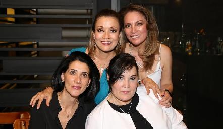 Soledad Vega, Fabiola Nieto, Alicia Tanus y Gaby Casillas.