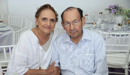 Toyita y Rafael Villalobos.