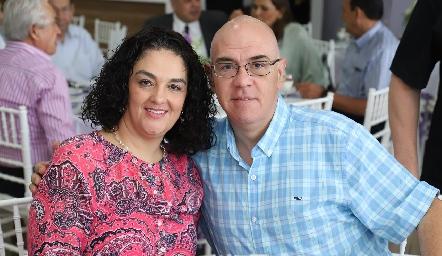 Carolina Abud y Javier González.