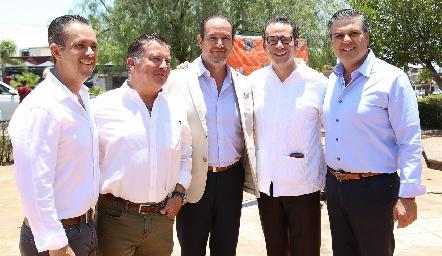Eduardo Suárez, Rodrigo Gómez, Manuel Toledo, Xavier Nava y Salomón Dip.