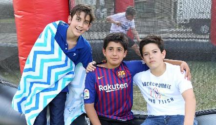 Andrés, Javier y Roberto.
