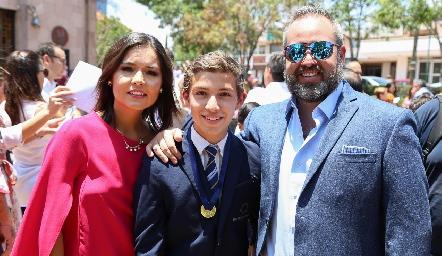 Lorena Torres, Daniel y Daniel Carreras.