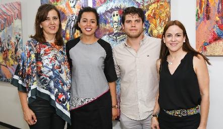 Marcela Milán, Sofía Milán, Ricardo de la Torre y Diana Guel.
