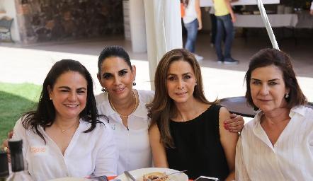 Coquito, Malú, Olga y Coco.