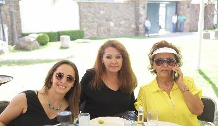 Argelia Suárez, Argelia Serrano y Kena Díaz de León.