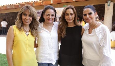 Martha Díaz de León, Coco Leos, Olga Alessi y Malu Espinosa.