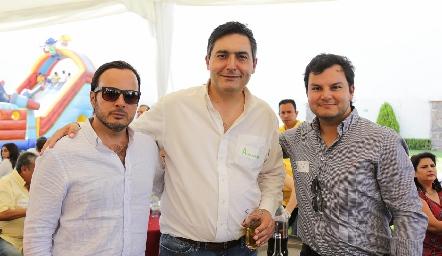 Alejandro Stevens, Alejandro Espinosa y Raúl Torres.