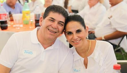 Toño Morales y Malú Espinosa.