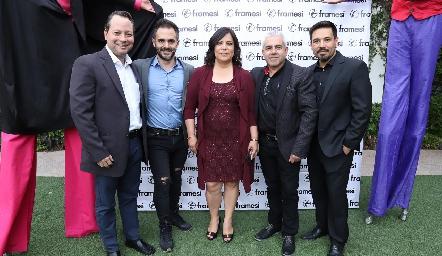 Abelardo Díaz, Diego Sanfilipo, Fabiola Mejorada, Víctor Padilla y Francisco Benítez.