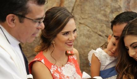 Ana Gaby Mina, madrina de Juan Pablo.