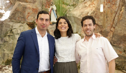Jorge Castelo, Adriana Torres y Paco Dauajare.