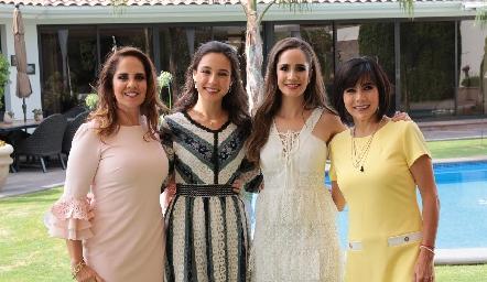 Gabriela Payán, Tere Mancilla, Dani Mina y Teresa Guerrero.