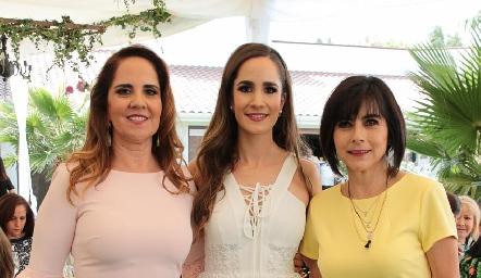 Gabriela Payán, Dany Mina y Teresa Guerrero.