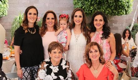Ana Gaby Mina, Gaby Payán, Inés, Dani Mina, Yolanda Aguillón, Yolanda Espinosa y Yolanda Payán.