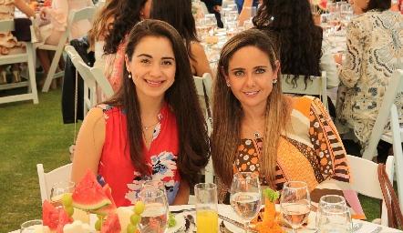Andrea Carbajal y Ana Gaby Díaz Infante.
