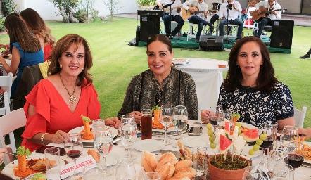 Yolanda Payán, Pily Leos y Olga Lorena Castro.