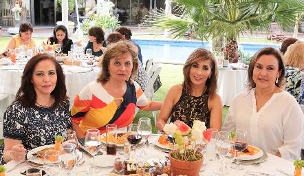 Olga Lorena Castro, Guadalupe Hermosillo, Silvia Tapia y Claudia de Paredes.