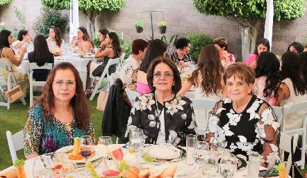 Dora Irma Guzmán, Juana María Pichar y Yolanda Espinosa de Payán.