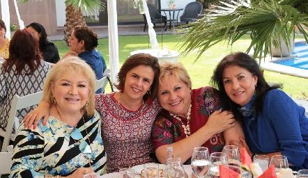 Nelly Rodríguez, Norma Medellín, Lucy Lastras y Tere Ramírez.