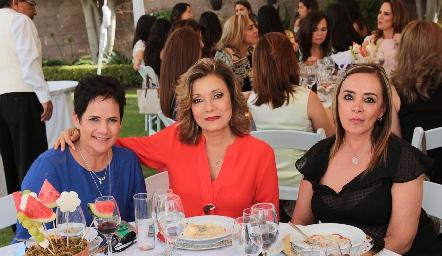 Tita García, Soledad Vega y Verónica Rodríguez.
