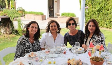 Gabriela Meade, Mimí Hernández, Gabriela Andrés y Mili Estrada.