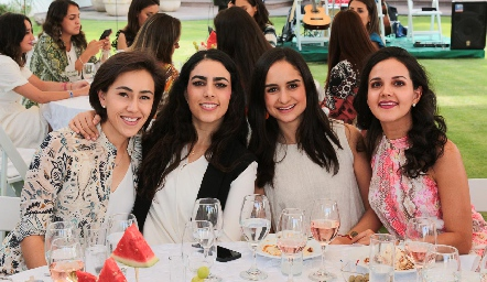 Midori Barral, Lula Torres, Claudia Villasana y Yolanda Aguillón.