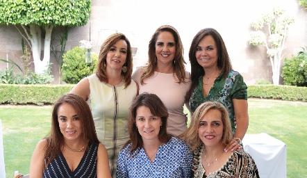Alejandra Ávila, Gabriela Payán, Elsa Tamez, Lorena Herrera, Tawi Garza y Mimí Hinojosa.