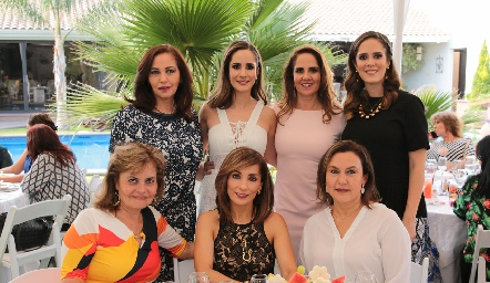 Olga Lorena Castro, Dani Mina, Gaby Payán, Ana Gaby Mina, Ángeles Hermosillo, Silvia Tapia y Claudia de Paredes.