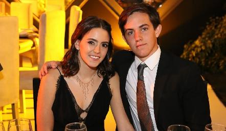 Irene Abud y José González.