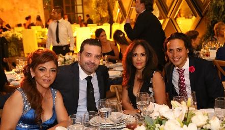 Natalia Castillo, Enrique, Malena Rubín de Celis y Edmundo Delgadillo.