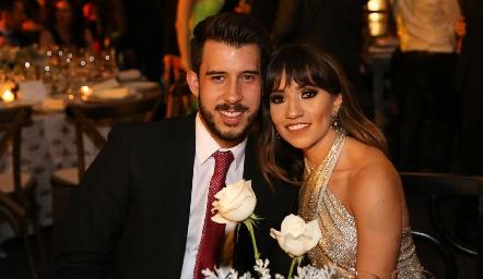 David Bagg y Claudia Valdelamar.