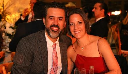 Mauricio Carrera y Lorena Lara.