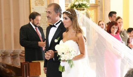 Marco Güemes con su hija Daniela.