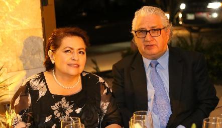 Guadalupe Fernández y Eduardo Viramontes.