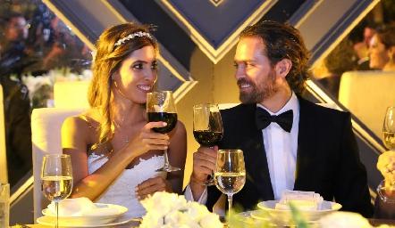 Daniela Güemes y Javier De Antuñano.