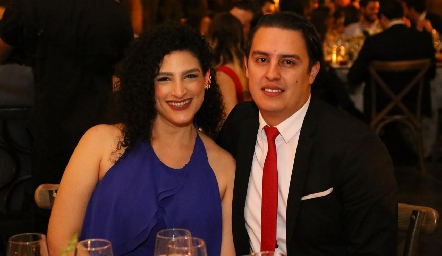 Arlett Iga y Eduardo Macías.