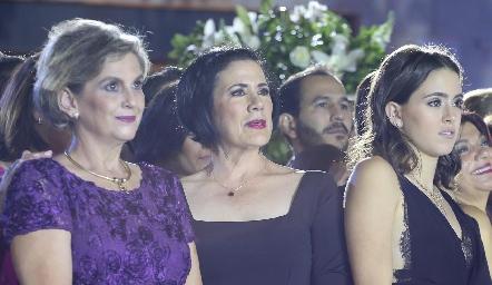 Gaby Protillo, Carmenchu Motilla e Irene Abud.