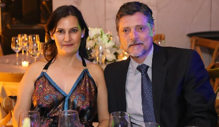 Sandra Morelos y Guillermo Humara.