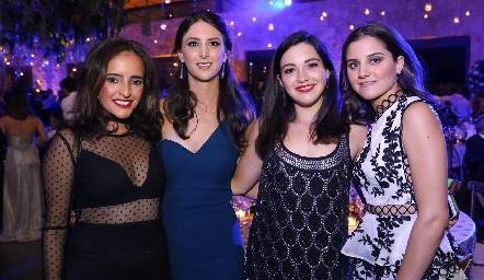 Isa Torres, Cata Abud, Yusa de la Rosa y Eugenia Musa.