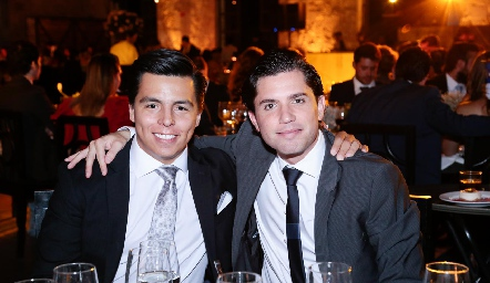 Lisandro Bravo y Gerardo Serrano.