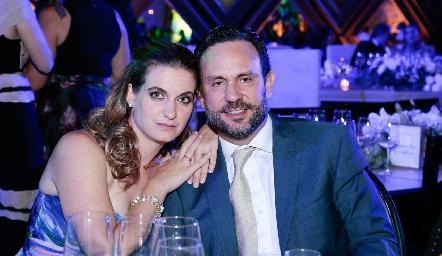 Hanni Abud y Carlos Torres.