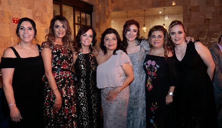 July Mahbub, Lizzet Abud, Elsa Tamez, Malaque Musa, Martha Abud, Claudia Abud y María Elena León.