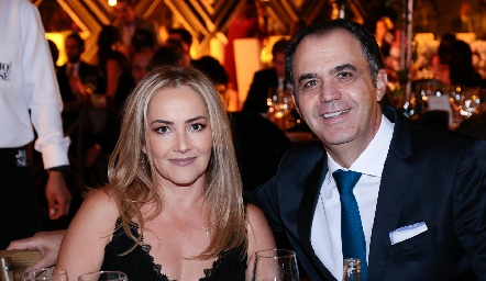 Claudia del Pozo y Héctor Mahbub.