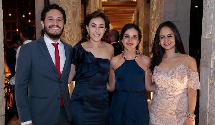 Alberto Pérez, Midori Barral, Yolanda Aguillón y Claudia Villasana.